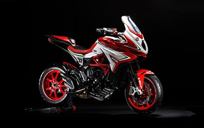 2019, MV Agusta Turismo Veloce 800 Lusso, 4k, new motorcycle, sportbikes, new red Veloce 800, MV Agusta