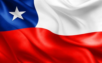 flag of Chile, 3d flag, Chilean flag, South America, flags of the world, Chile