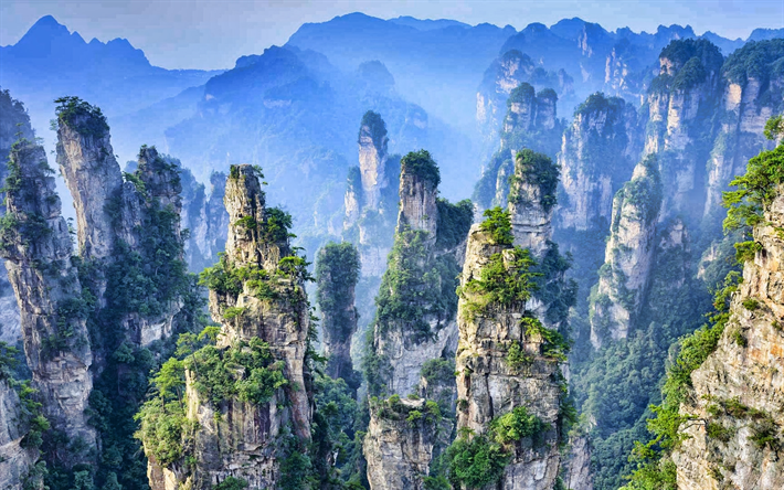 Download Wallpapers Zhangjiajie National Forest Park