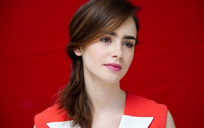 Hollywood, Lily Collins, portrait, american actress, beauty, brunette