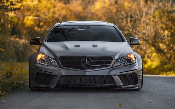 Download Wallpapers Mercedes Benz E Class Tuning Road German Cars W212 Mercedes For Desktop