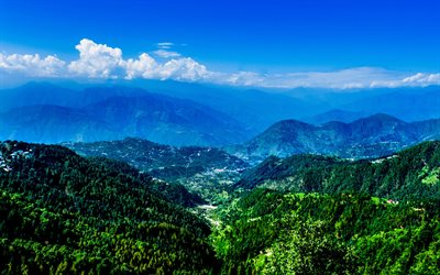 India, 4k, mountains, summer, South Asia, HDR, Asia