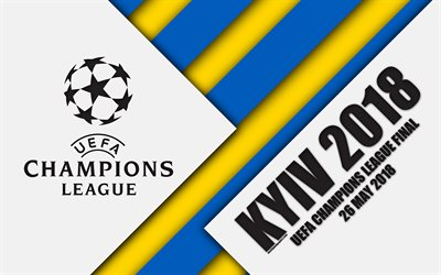 2018 UEFA Champions League Final, Kyiv 2018, NSC Olimpiyskyi Stadium, 26 May 2018, 4k, promo, material design, Champions League, football