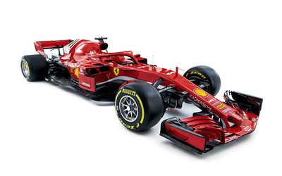 Ferrari SF71H, 2018, 4k, new Ferrari F1 car, Formula 1, pilot protection, SF71H, F1, new car cockpit protection, Scuderia Ferrari