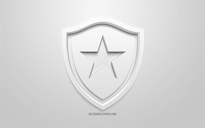 Download Wallpapers Botafogo Creative 3d Logo White Background 3d Emblem Brazilian Football Club Serie A Rio De Janeiro Brazil 3d Art Football Stylish 3d Logo For Desktop Free Pictures For Desktop Free