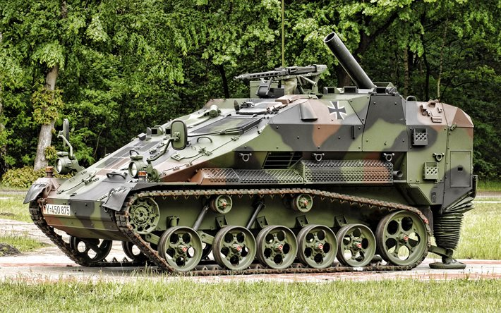 Wiesel, LePzMrs, Panzermorser, German armoured fighting vehicle, Bundeswehr, Self-propelled mortar