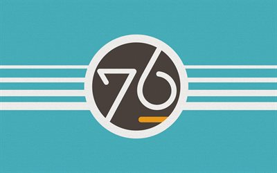 System76 logo, creative, material design, Linux, OS, blue backgrounds, System76
