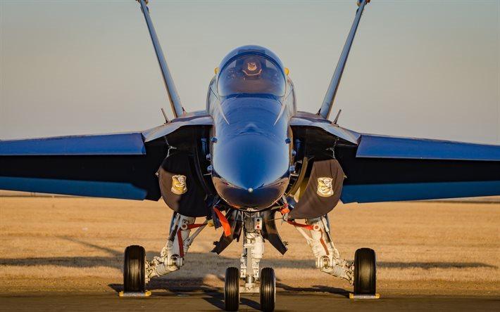 Download Wallpapers Mcdonnell Douglas F 18 Hornet Blue