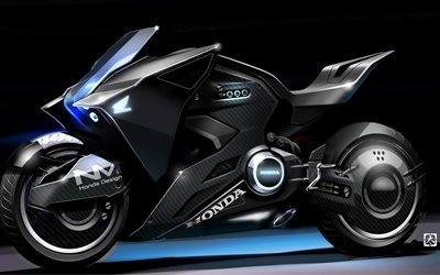 Honda NM4 Vultus Concept, 2017 bikes, superbikes, Ghost In The Shell, Honda