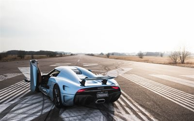 Koenigsegg Regera, 2017, Rear view, hypercar, new sports cars, Koenigsegg