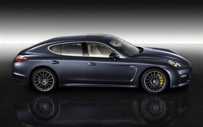Porsche Panamera, 2017, Side view, gray Panamera, German cars, luxury cars, Porsche