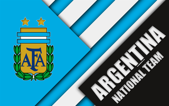 Download Wallpapers Argentina National Football Team 4k Emblem