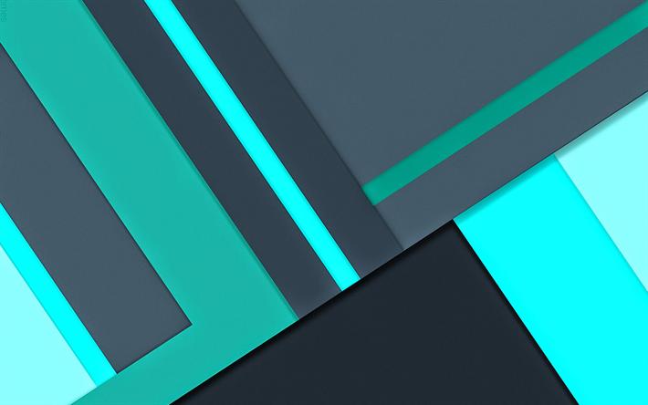 Descargar fondos de pantalla 4k turquesa y gris dise o - Fondos para android 4k ...