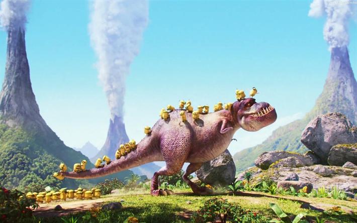 Descargar Fondos De Pantalla Esbirros Dinosaurio Despicable Me 3d