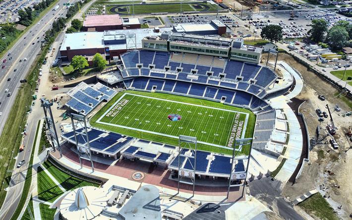 Download wallpapers Tom Benson Hall of Fame Stadium, 4k, aerial view, Fawcett Stadium, NFL ...