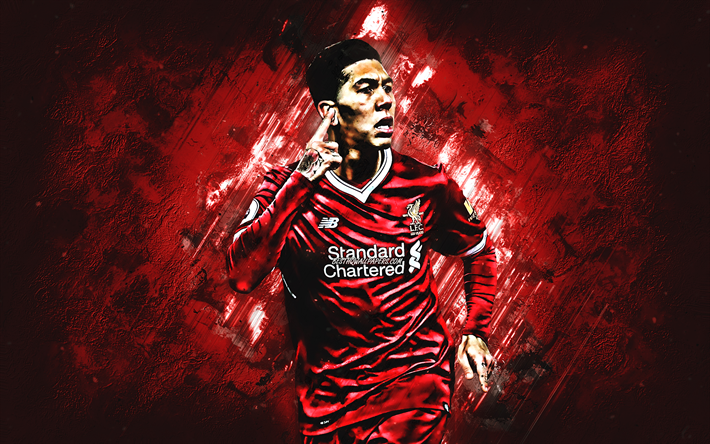 Download Wallpapers Roberto Firmino, Liverpool FC