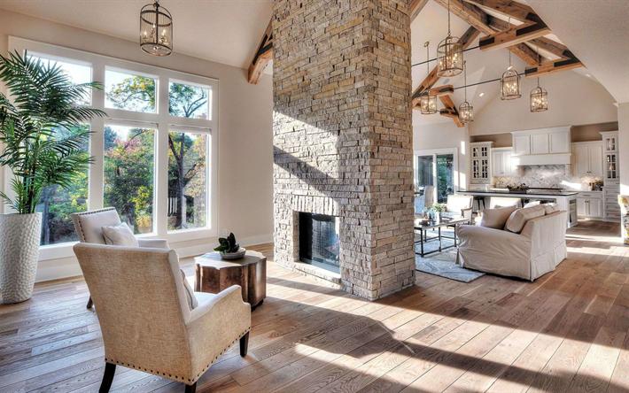 H mta bilder elegant inredning vardagsrum modern interior for Immagini interni case di campagna