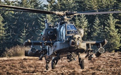 Boeing AH-64 Apache, HDR, combat helicopter, USAF, combat aircraft, AH-64 Apache, US army, United States Air Force