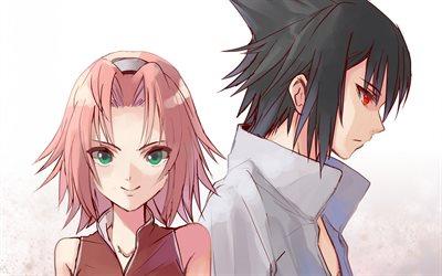 Uchiha Sasuke & Haruno Sakura   Sasusaku, Sakura and