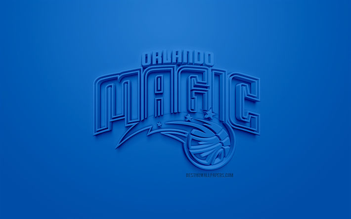 Download Wallpapers Orlando Magic Creative 3d Logo Blue
