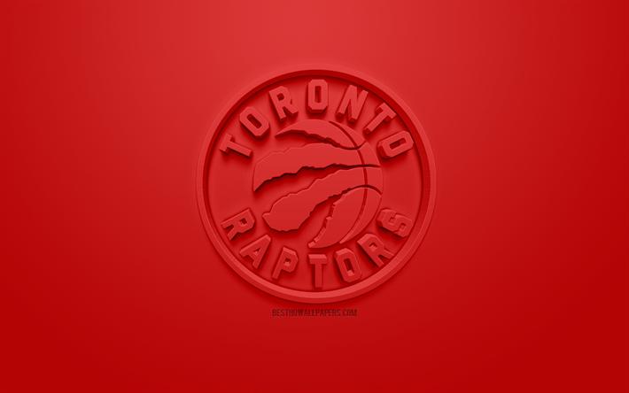 Download wallpapers toronto raptors creative 3d logo red - Toronto raptors logo wallpaper ...