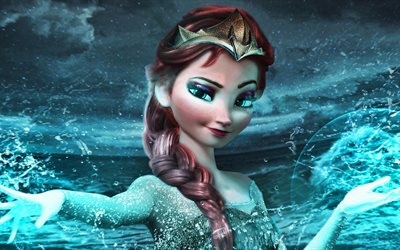 Anna, 4k, Frozen, Princess Anna of Arendelle, Walt Disney, 3D-animation