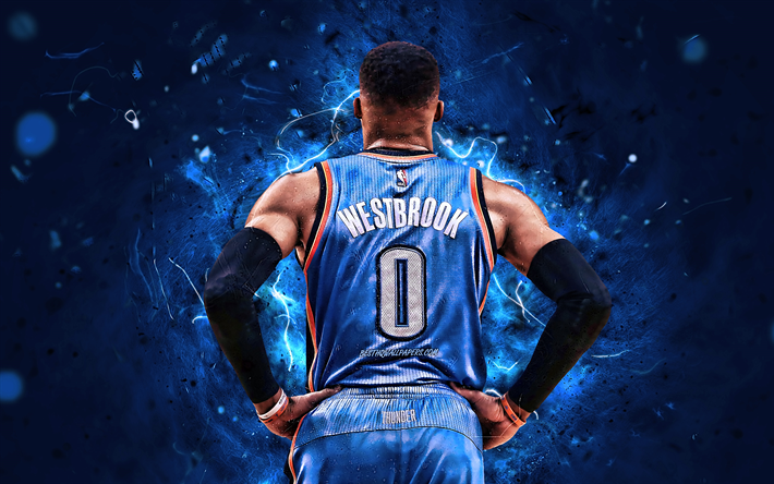 Download Wallpapers Russell Westbrook Back View Basketball
