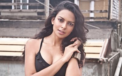 Bidita Bag, Indian actress, Portrait, brunette, beautiful woman