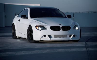 BMW M6, e63, tuning, arking, white m6, BMW