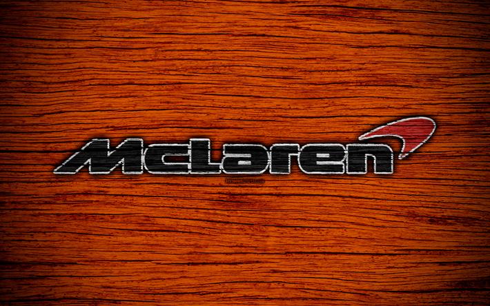 Download imagens McLaren F1 Team, 4k, logo, Equipas de F1, F1