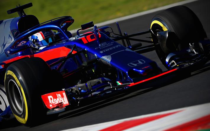 Scarica Sfondi Pierre Gasly Close Up 2018 Auto Formula 1 Halo