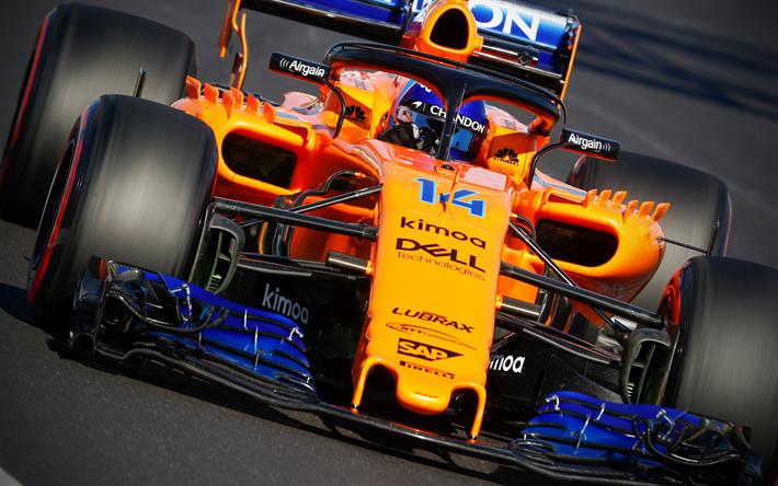 Download Wallpapers 4k Fernando Alonso Close Up Raceway 2018 Cars Formula 1 Mclaren Mcl33 F1 Mclaren 2018 F1 Cars New Mclaren F1 Mcl33 Mclaren For Desktop Free Pictures For Desktop Free