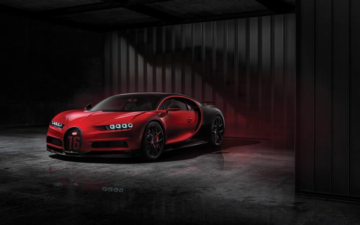 Download Wallpapers Bugatti Chiron Sport Garage 2018