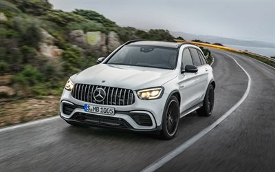 Mercedes-AMG GLC 63 S, 4k, tuning, 2019 cars, SUVs, german cars, 2019 Mercedes-Benz GLC-Class, Mercedes