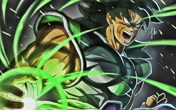La rabbia di Broly, close-up, DBS, battaglia, Dragon Ball Super, Broly, DBS personaggi di Dragon Ball