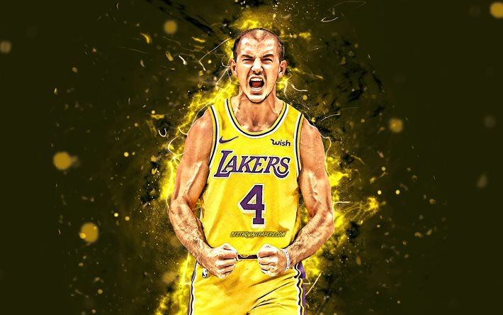 Download Wallpapers Alex Caruso 4k 2020 Nba Los Angeles Lakers Basketball Stars Caruso Yellow Neon Lights Basketball La Lakers Creative Alex Caruso Lakers Alex Caruso 4k For Desktop Free Pictures For Desktop