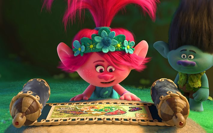 Poppy, 3D-animation, 2020 movie, cartoon characters, Trolls World Tour, artwork, Trolls characters, Poppy Trolls, funny characters, Trolls