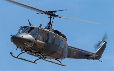 Bell UH-1 Iroquois, UH-1J, 130 Bell 205, American multipurpose helicopter, military helicopter, Japan Air Force