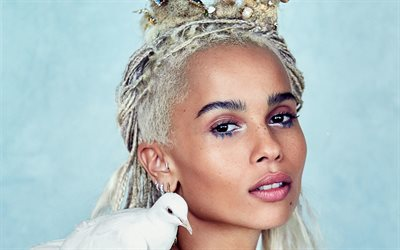 Zoe Kravitz, American singer, portrait, make-up, American actress