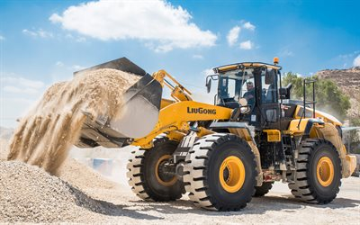LiuGong CLG 877H, 4k, front loader, 2020 tractors, construction machinery, loader in career, special equipment, construction equipment, LiuGong, HDR