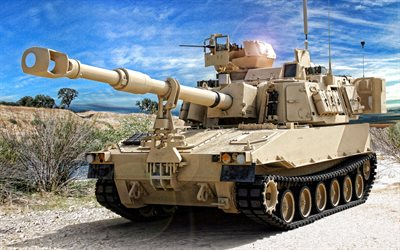 M109, self-propelled howitzer, M109A6 Paladin, American army, artillery, American self-propelled artillery
