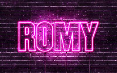 Herunterladen hintergrundbild romy, 4k, tapeten, die mit ...
