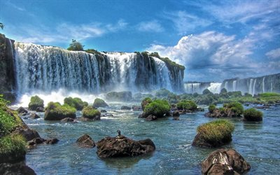 iguazu, waterfall, river, state, brazil