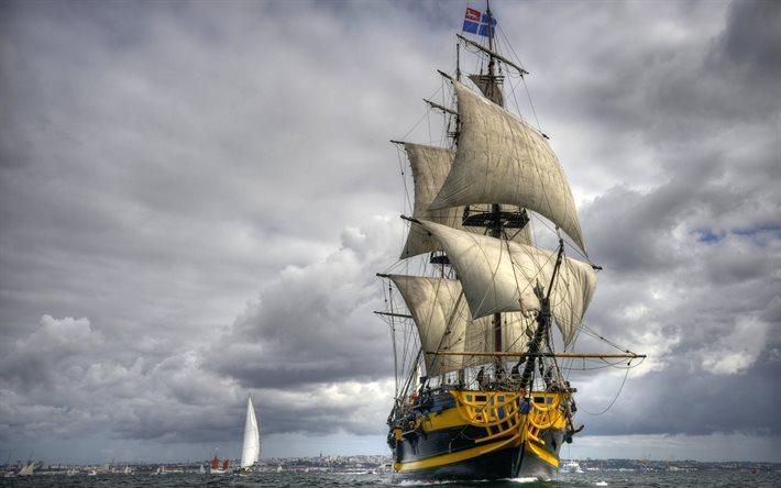 Telecharger Fonds D Ecran Voilier Mer Fregate Francaise Pour Le Bureau Libre Photos De Bureau Libre
