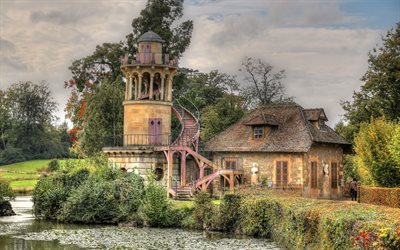 versailles park, tower of marlborough, france