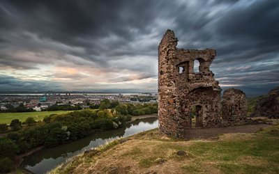 edinburgh, holyrood park, scotland