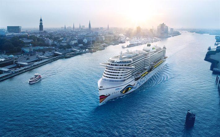 Download wallpapers cruise liner, aidaprima, hamburg for desktop free. Pictures for desktop free