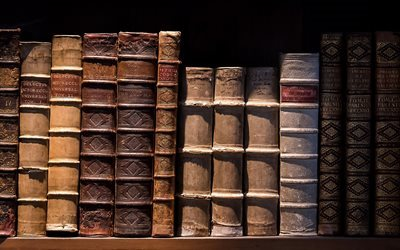 old books, shabby roots