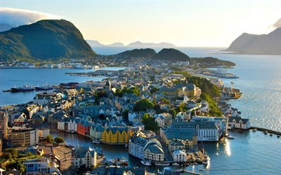 alesund, port, norway
