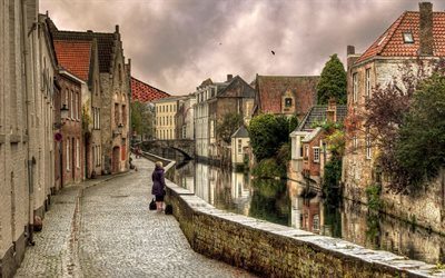 bruges, channel, home, belgium